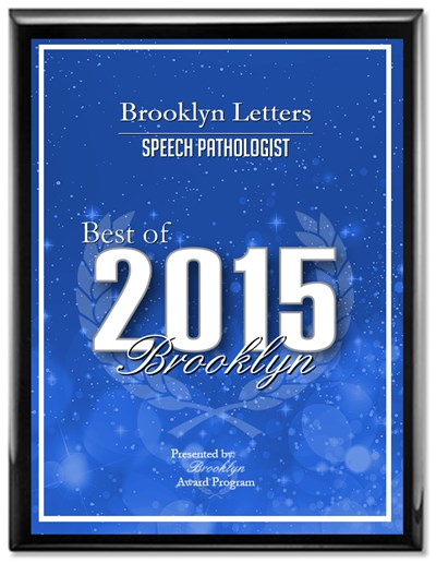 Private Pay New York City Speech Therapy, Brooklyn Letters