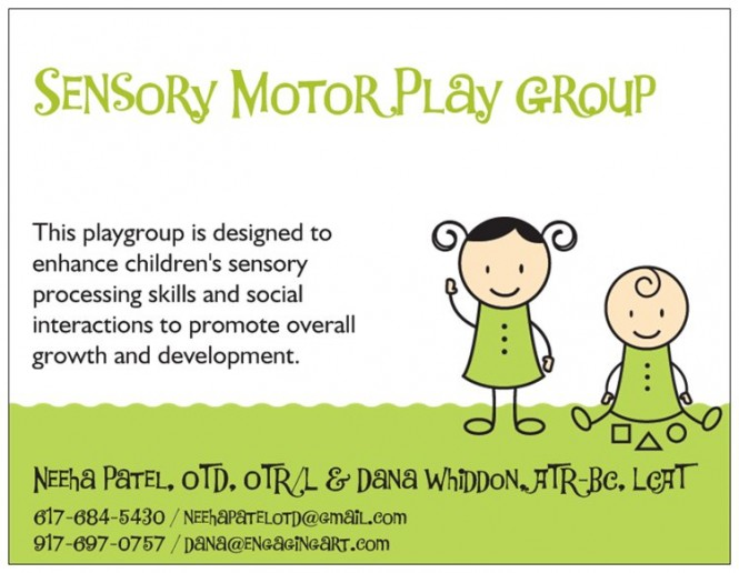 Sensory Motor Play Group at Columbus Circle, Brooklyn Letters