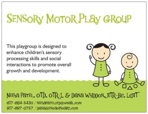 Sensory Motor Play Group, Brooklyn Letters