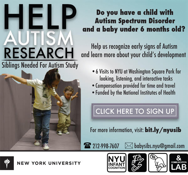 NYU Autism Sibling Research, Brooklyn Letters