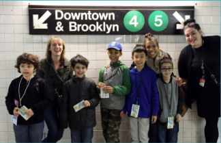 NY Transit Museum: Subway Sleuths Program for students with Autism/social-communication disorders, Brooklyn Letters