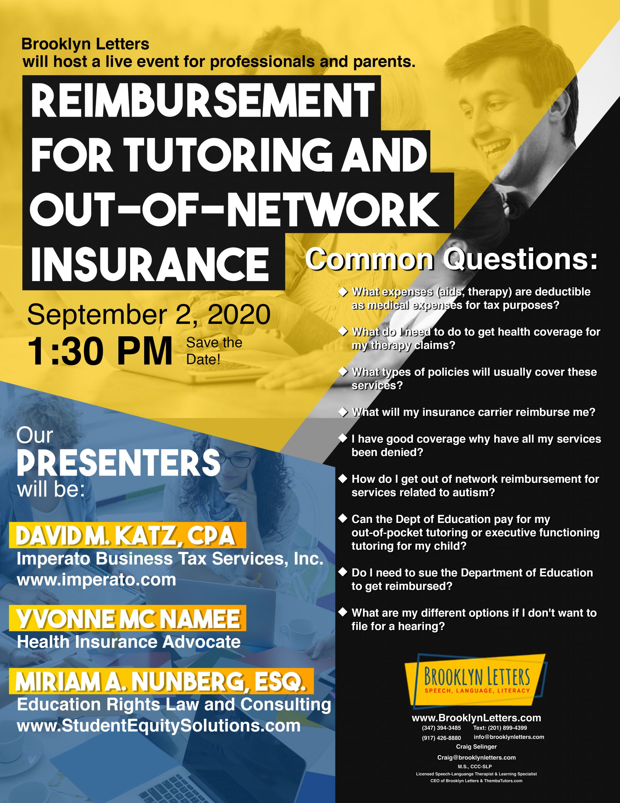 Learn How to Save Money for Tutoring and Out-of-Network Therapy Services!