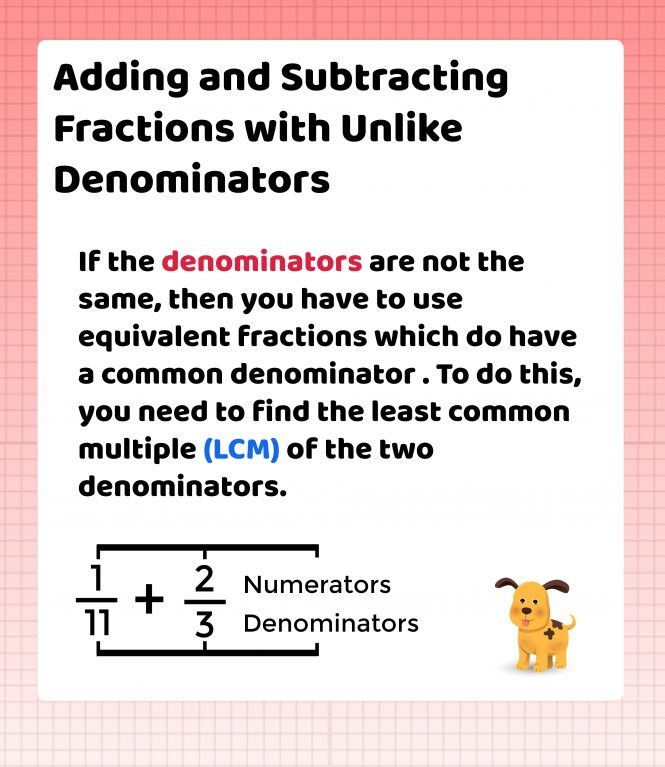 Adding Subtracting Fractions with Unlike Denominators, Brooklyn Letters