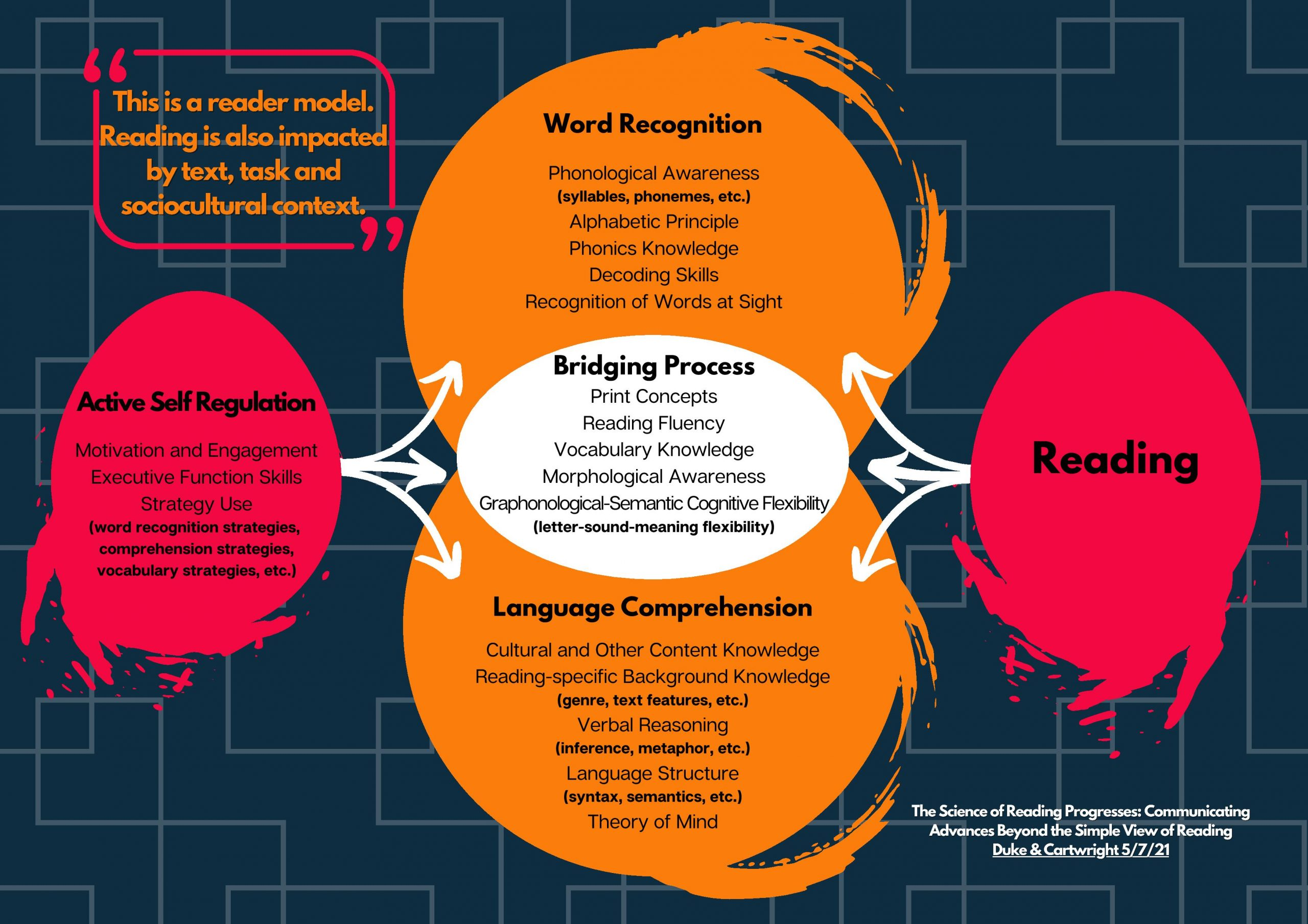 2021 Reading Model for Fluency, Comprehension, Self-Regulation, and Vocabulary, Brooklyn Letters